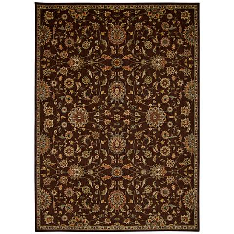 Kathy Ireland Ancient Times BAB04 Brown Area Rug