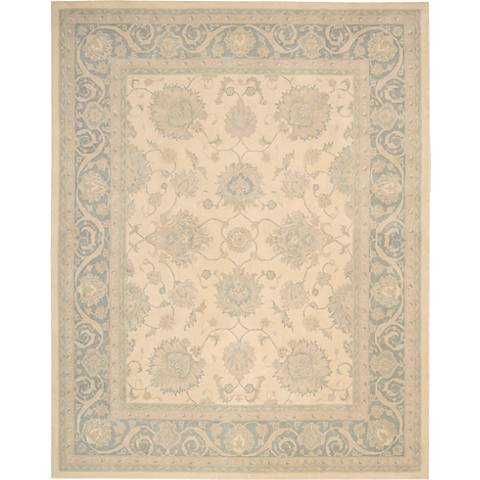 Royal Serenity SER01 Ivory Blue Wool Area Rug