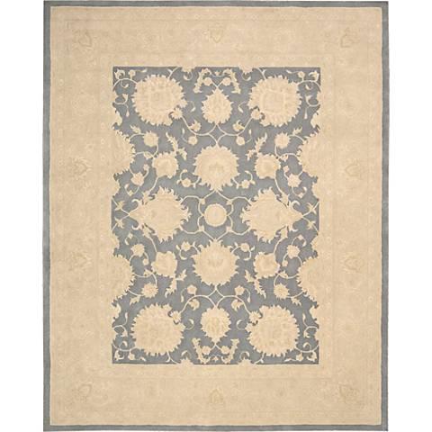 Nourison Royal Serenity SER01 Slate Wool Area Rug