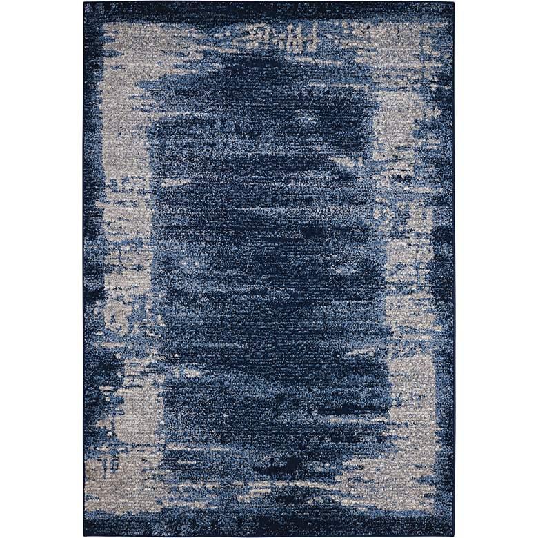 """Kathy Ireland Illusion KI242 5'3""""x7'4"""" Blue Area Rug"""
