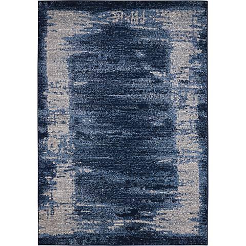 Kathy Ireland Illusion KI242 Blue Area Rug