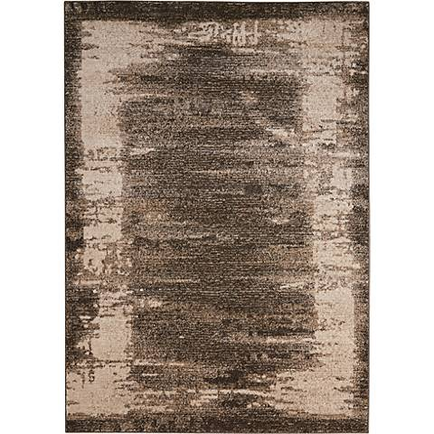 Kathy Ireland Illusion KI242 Mocha Area Rug