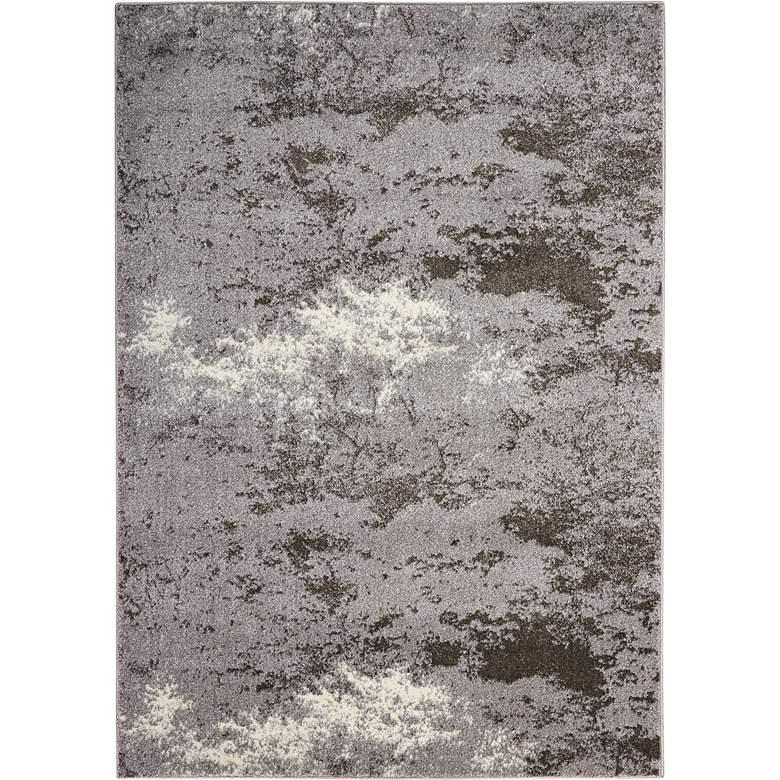 """Kathy Ireland Illusion KI243 5'3""""x7'4"""" Gray Area Rug"""