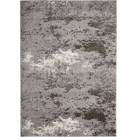 Kathy Ireland Illusion KI243 Gray Area Rug