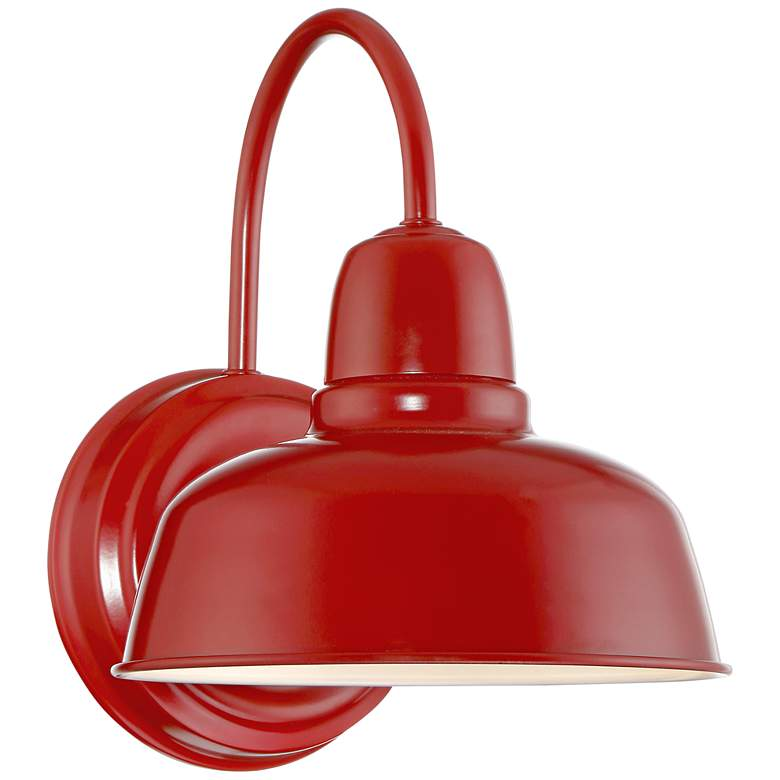 "Urban Barn 11 1/4"" High Red Indoor-Outdoor Wall Light"