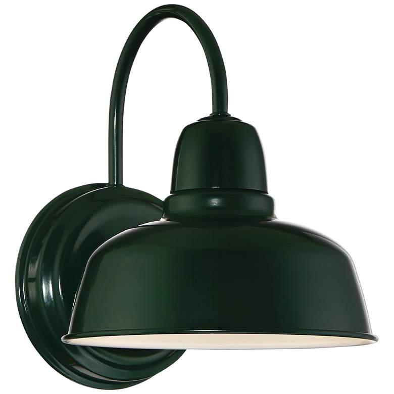"""Urban Barn 11 1/4"""" High Green Indoor-Outdoor Wall Light"""