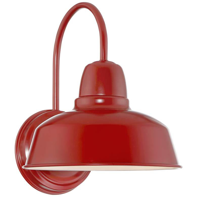 """Urban Barn Collection 13"""" High Red Outdoor Wall Light"""