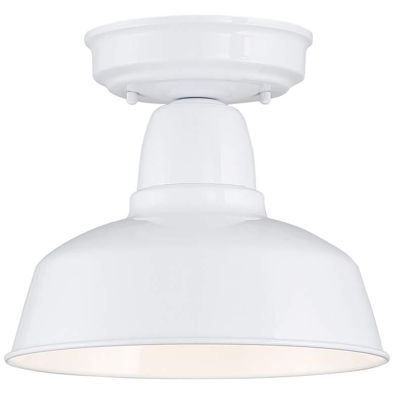 "Urban Barn 10 1/4"" Wide White Outdoor Ceiling Light"
