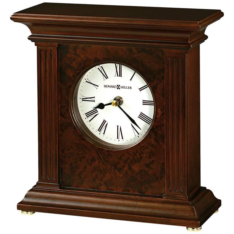 "Howard Miller Andover 9 1/4"" High Cherry Bordeaux Clock"