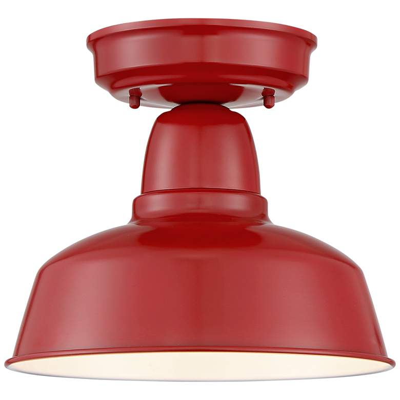 "Urban Barn Collection 10 1/4"" Wide Red Outdoor Ceiling Light"