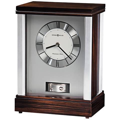 "Howard Miller Gardner 11 3/4"" High Brushed Aluminum Clock"