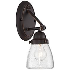 """Hartfield 13 1/2"""" High Oil Rubbed Bronze Wall Sconce"""