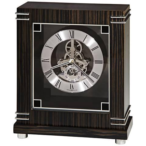 "Howard Miller Batavia 9"" High Macassar Ebony Mantel Clock"
