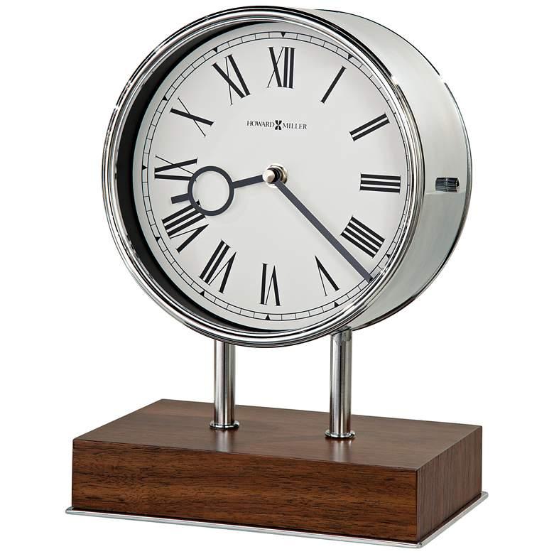 "Howard Miller Zoltan 10 1/2"" High Polished Steel Clock"