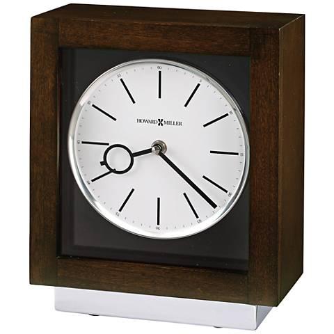 "Howard Miller Cameron II 10 3/4"" High Espresso Wood Clock"