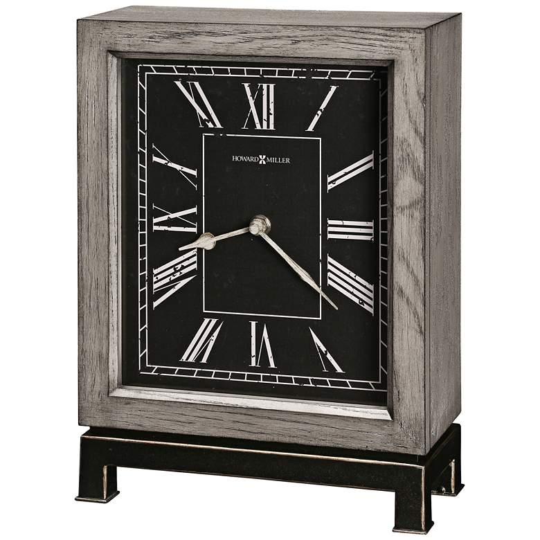 "Howard Miller Merrick 12 1/4"" High Wood Grain Mantel Clock"