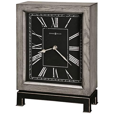 "Howard Miller Merrick 12 1/4"" High Warm Gray Mantel Clock"