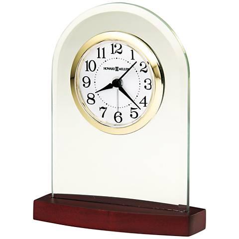 "Howard Miller Hansen 5"" High Convex Clear Crystal Clock"