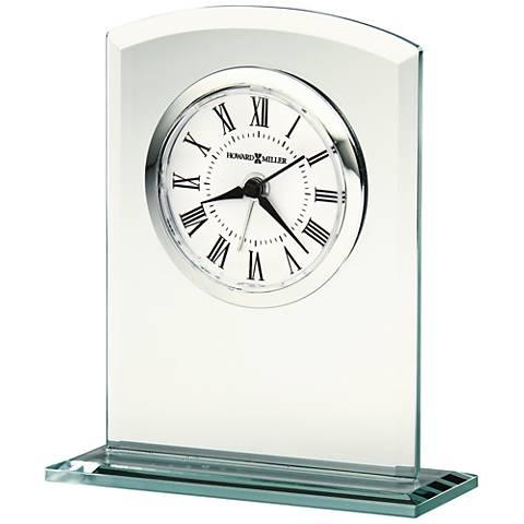 "Howard Miller Medina 4 3/4"" High Beveled Glass Alarm Clock"