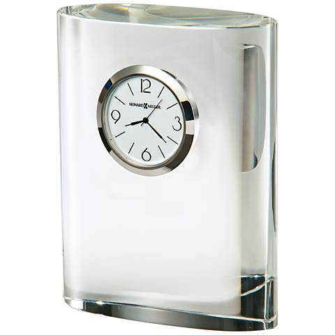 "Howard Miller Fresco 4 3/4""H Oval Column Crystal Clock"