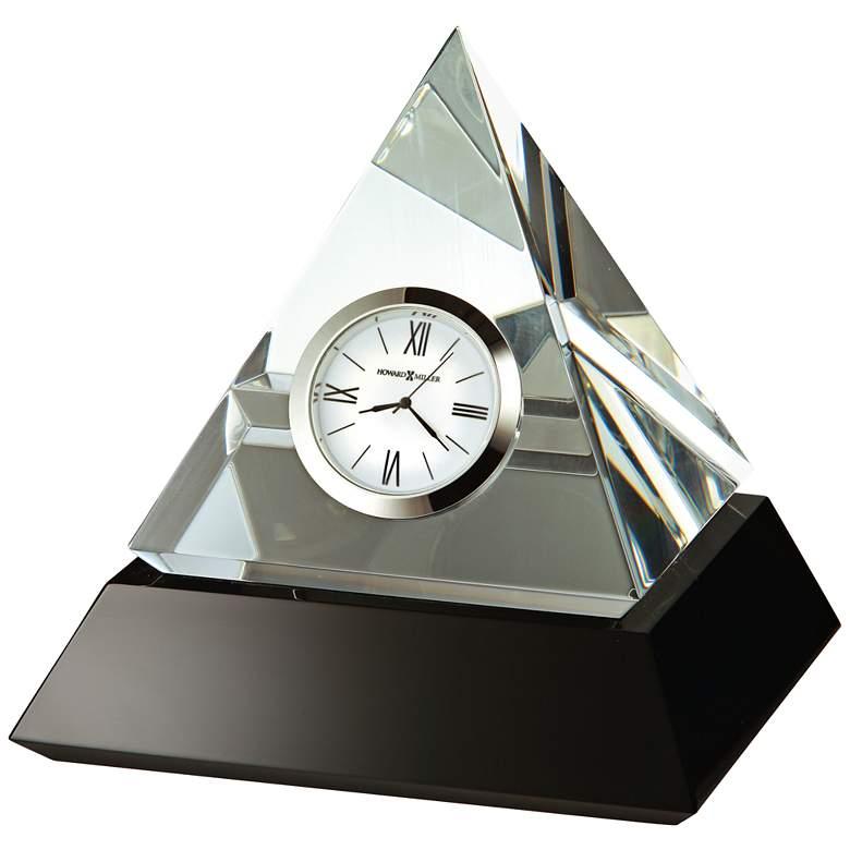 "Howard Miller Summit 5 1/4"" High Solid Glass Pyramid Clock"