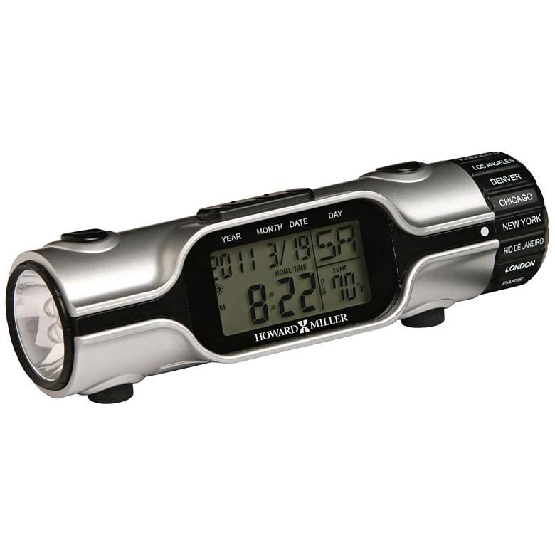 "Howard Miller World Time 5 1/4""W Silver Flashlight Clock"