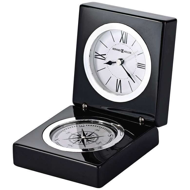 "Howard Miller Endeavor 4 1/2"" High Black Compass"