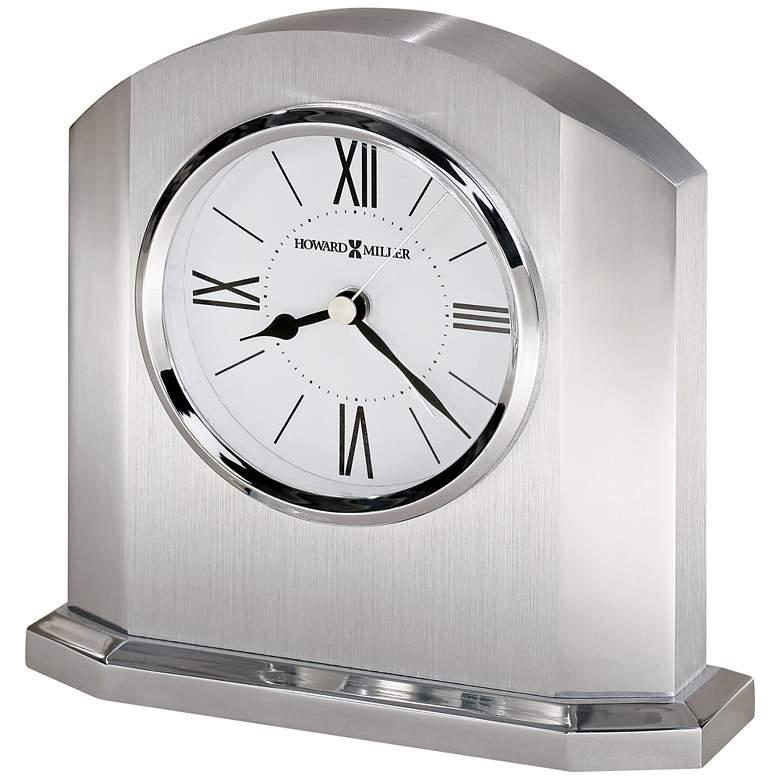 "Howard Miller Lincoln 5 3/4""H Dual-Silver Alarm Table Clock"