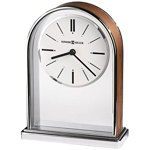 "Howard Miller Milan 7 1/4""H Plated Polished Chrome Clock"