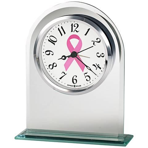 """Howard Miller Hope 6 1/4"""" High Beveled Glass Alarm Clock"""