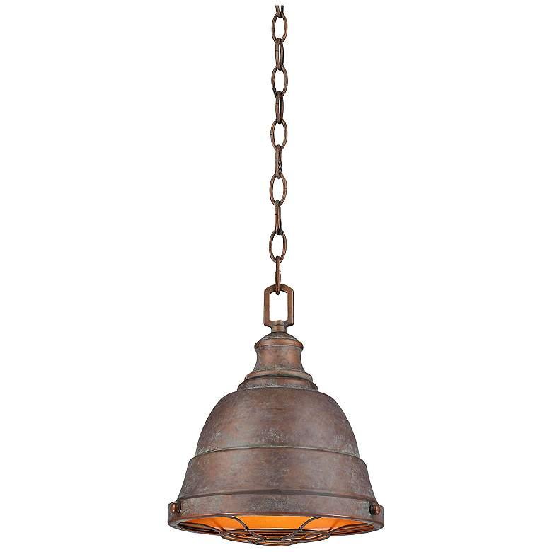 """Bartlett 9 1/4"""" Wide Copper Patina Mini Pendant Light"""