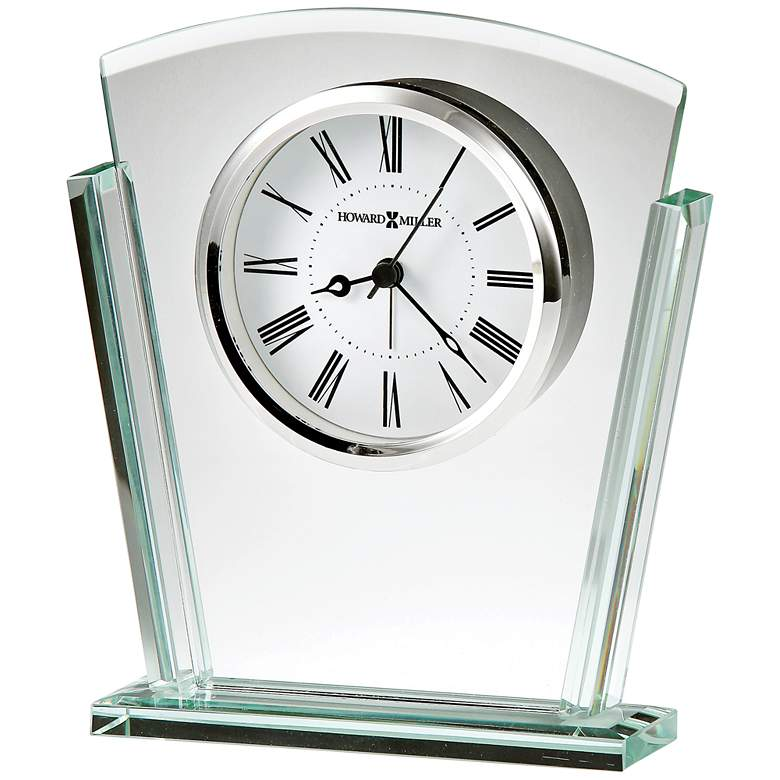 "Howard Miller Granby 6 3/4"" High Deco Glass Alarm Clock"
