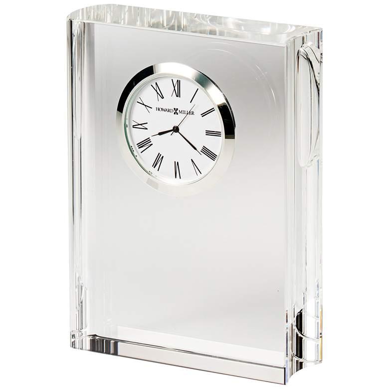 "Howard Miller Scholastic 5 1/2"" High Optical Crystal Clock"