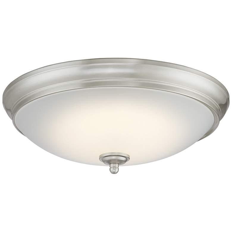 """Melana 13"""" Wide Brushed Nickel LED Ceiling Light"""
