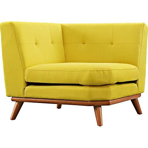 Engage Sunny Fabric Tufted Corner Sofa