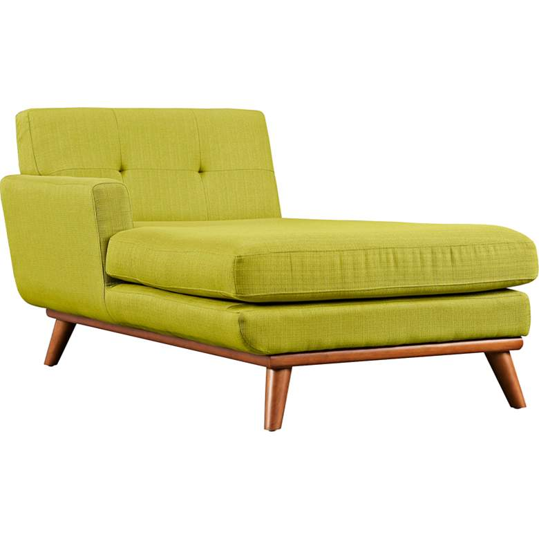 """Engage 36 1/2"""" Wide Wheatgrass Fabric Tufted Left-Arm Chaise"""