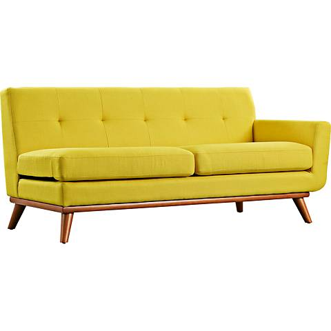 Engage Sunny Fabric Tufted Right-Arm Loveseat