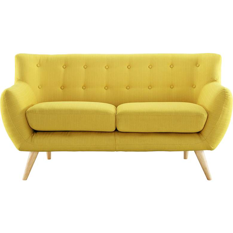 """Remark 61 1/2"""" Wide Sunny Fabric Tufted Loveseat"""