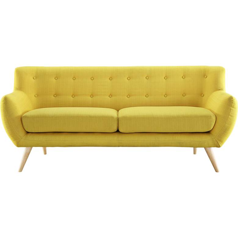 "Remark Sunny 74"" Wide Fabric Tufted Sofa"