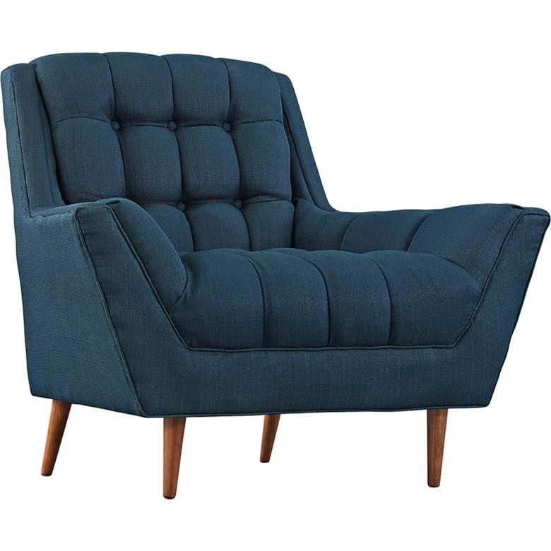 Response Azure Fabric Tufted Armchair