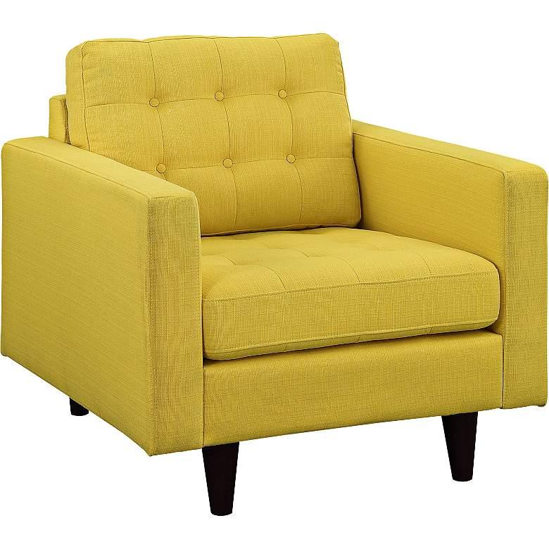 Empress Sunny Fabric Tufted Armchair