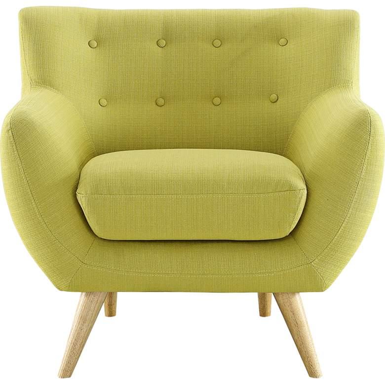 Remark Wheatgrass Fabric Tufted Armchair