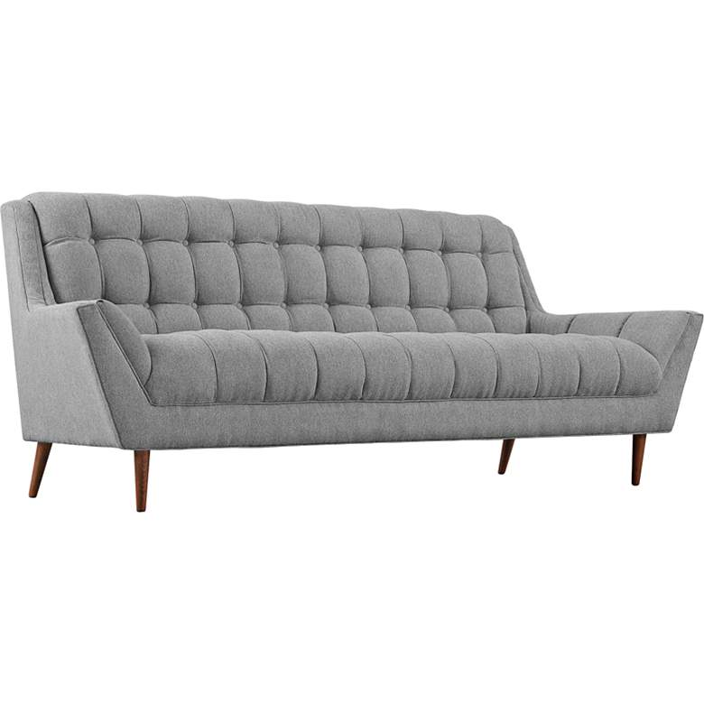 """Response 89"""" Wide Expectation Gray Tufted Modern Sofa"""