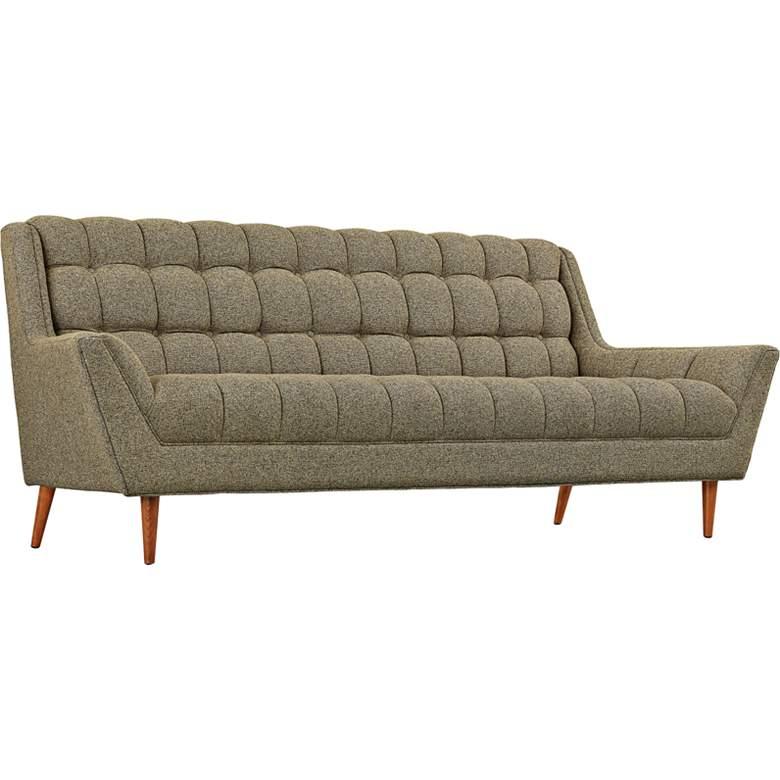 "Response Oatmeal 89"" Wide Fabric Tufted Sofa"