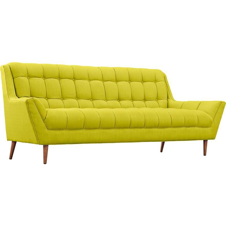 "Response Wheatgrass 89"" Wide Fabric Tufted Sofa"