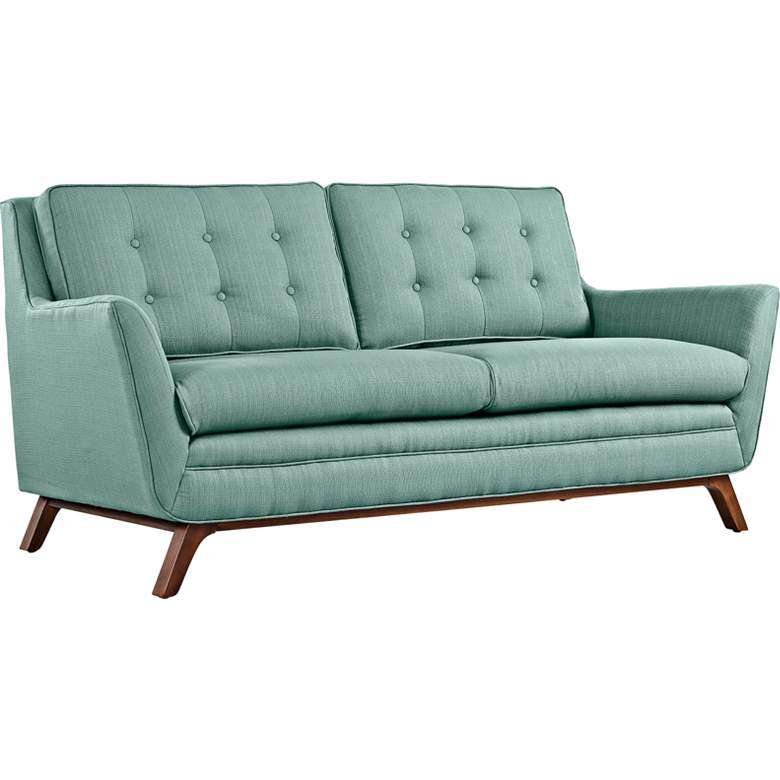 """Beguile 71 1/2"""" Wide Laguna Fabric Tufted Loveseat"""