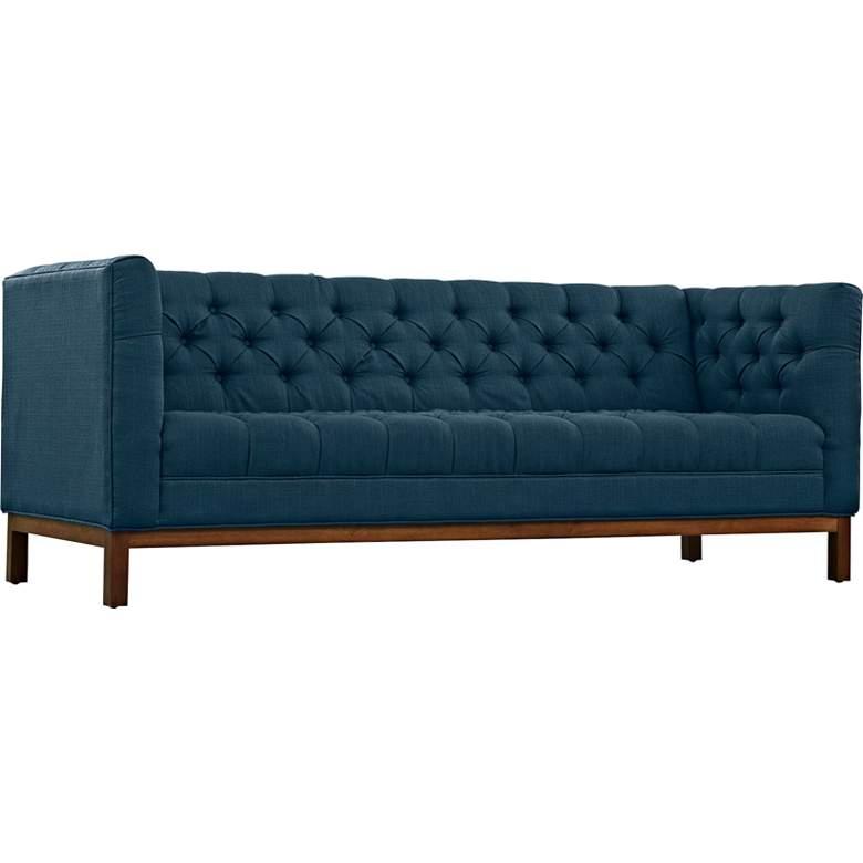 "Panache Azure 84"" Wide Fabric Tufted Sofa"