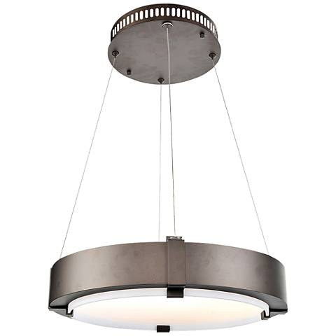 "Halo 27"" Wide Bronze 2700K LED Ring Pendant Light"