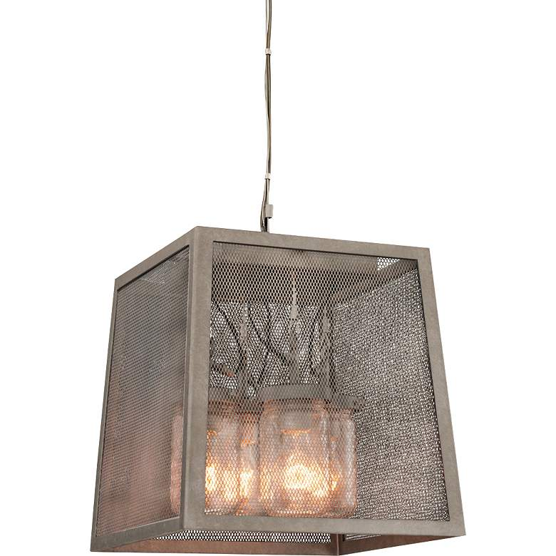 """Highland 14"""" Wide Hand-Forged Country Iron Pendant Light"""