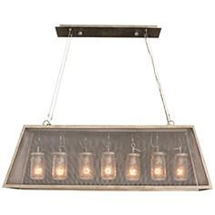 "Highland 44"" Wide Country Iron 7-Light Island Pendant"